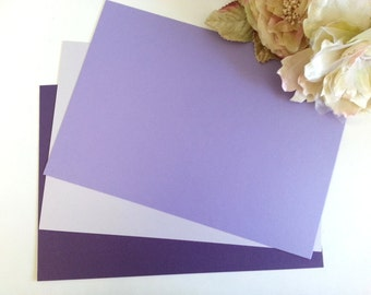 Purple cardboard - Lilac Mauve card - Metallic A4 sheet Violet, Purple card stock for Invitation, Wedding, party,  card Pure Invites