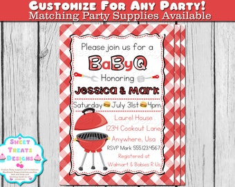 baby shower invitation couples baby shower bbq invitation baby