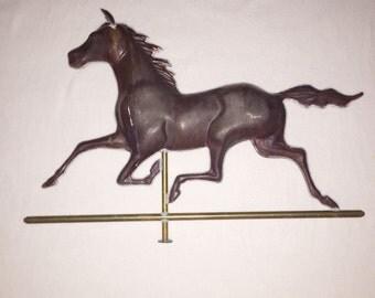 Horse weathervane copper