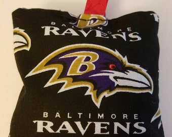 Plush Baltimore ravens ornament