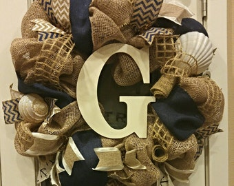 Beach Themed Wreath; Nautical Wreath; Beach