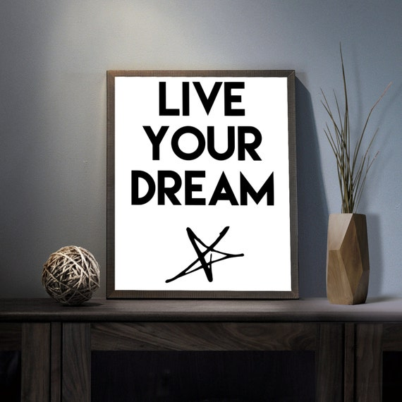Don T Be Eye Candy Be Soul Food Quote Meaning: Live Your Dream Digital Art Print Inspirational Star Wall
