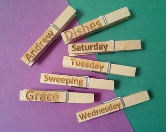Clothes Pins-Engraved/Personalized
