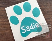 Paw Print Decal   Dog Decal   Dog Print Name   Personalized Paw Print   Animal Decal   Dog Car Decal   Vinyl Decal   Dog Love   Animal Paw