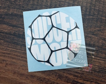 Soccer Mom Decal | Sports Mom | Soccer Decal | Soccer Mom Car Decal | Soccer Decal for Yeti