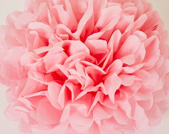 Dark Pink Paper Pom Pom