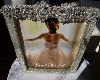 Crystal elements designer Rhinestone Special Occasion Frame 13 by 16 inches