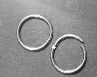 "Segment Ring,Solid G23 Titanium, 1/2"", 10mm, 16 gauge, for septum clicker, nose ring, earrings, body piercing hoops"