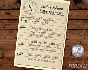 Library cards | Etsy