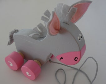 Tag-a-long donkey pull toy
