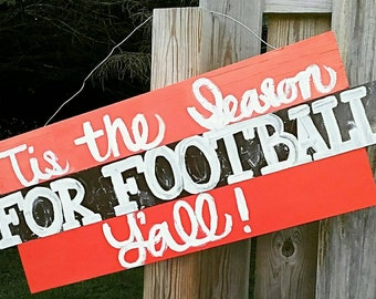 Handpainted Fall Football Sign