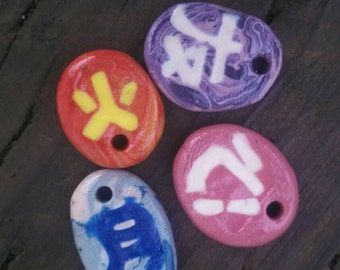 Japanese enlayed polymer charms/ keychains.