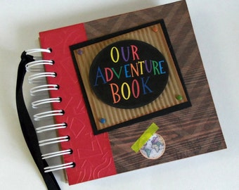 OUR ADVENTURE BOOK - Custom - Personalized - Disney Autograph Book - Scrapbook - Travel Journal - Vacation - Photo Book - Up