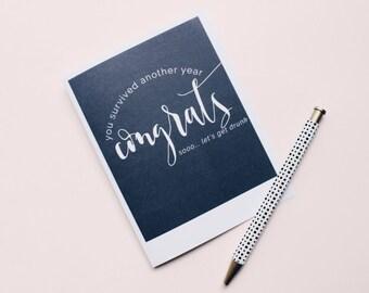 HAPPY BIRTHDAY printable greeting card- instant download, modern, stylish stationery