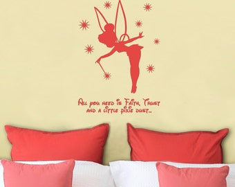 Tinkerbell Wall Decal, Disney Decals, 21