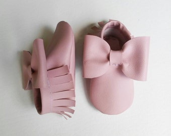tickle me pink baby moccasins