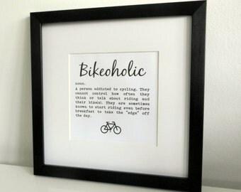 Framed Print - Bikeoholic