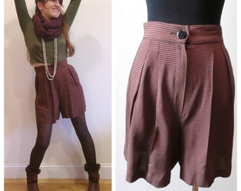 HIgh Waisted Short / Vintage Brown High Waisted Shorts