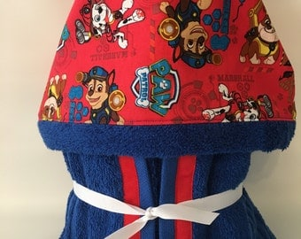 Paw Patrol Towel - Paw Patrol Hooded Towel - Personalized Hooded Towel - Paw Patrol Bath Towel