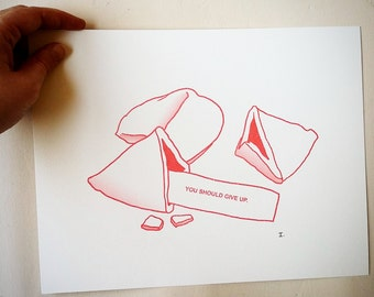 Printed design - fortune cookie / / Print - Fortune cookie