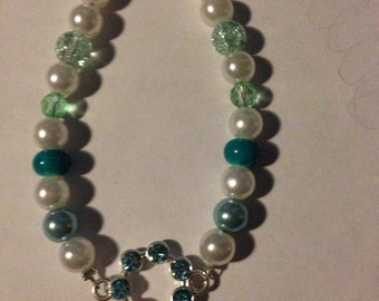 Blue circle charm bracelet