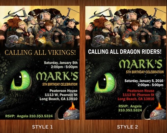 How to Train your Dragon Invitation!