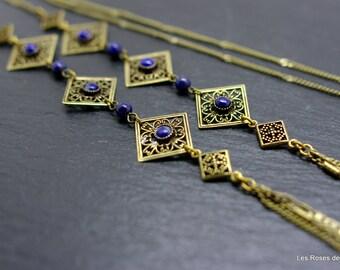 Long necklace art deco