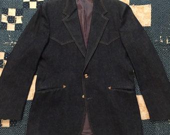 Vintage 1970s Levis Panatela Denim Blazer Size 42