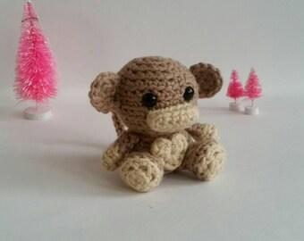 Crochet Mini Monkey Plush Amigurumi Toy