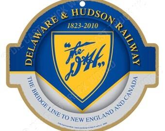 Delaware & Hudson Railroad Logo Wood Plaque / Sign