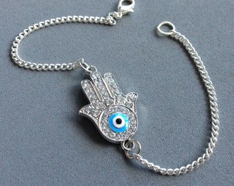 Hamsa  bracelet evil eye protection bracelet hand of Fatima