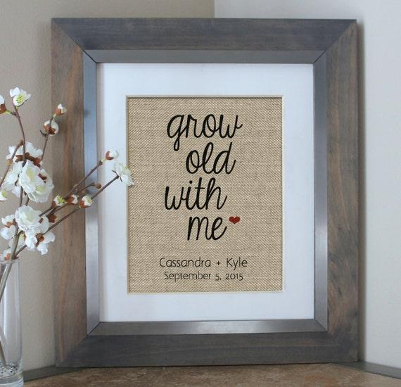 Personalised Wedding Gift Nz : Me Burlap Print Personalized Gifts Custom Wedding Gift Wedding ...