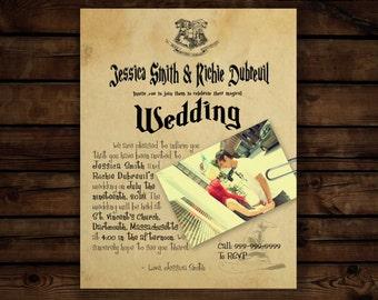 harry potter invites | etsy, Wedding invitations