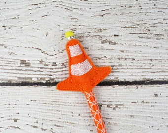 Construction Cone Pencil Toppers - Classroom Prizes - Party Favor - Party Supplies - Small Gift - Back to School