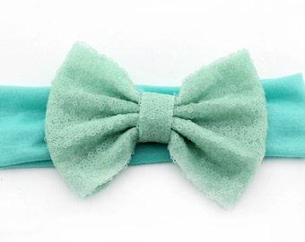 Mint Bow headband