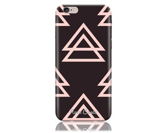 iPhone 6 iPhone 6sCase SS Pink On Black Triangle Cool Design Hard Phone Case