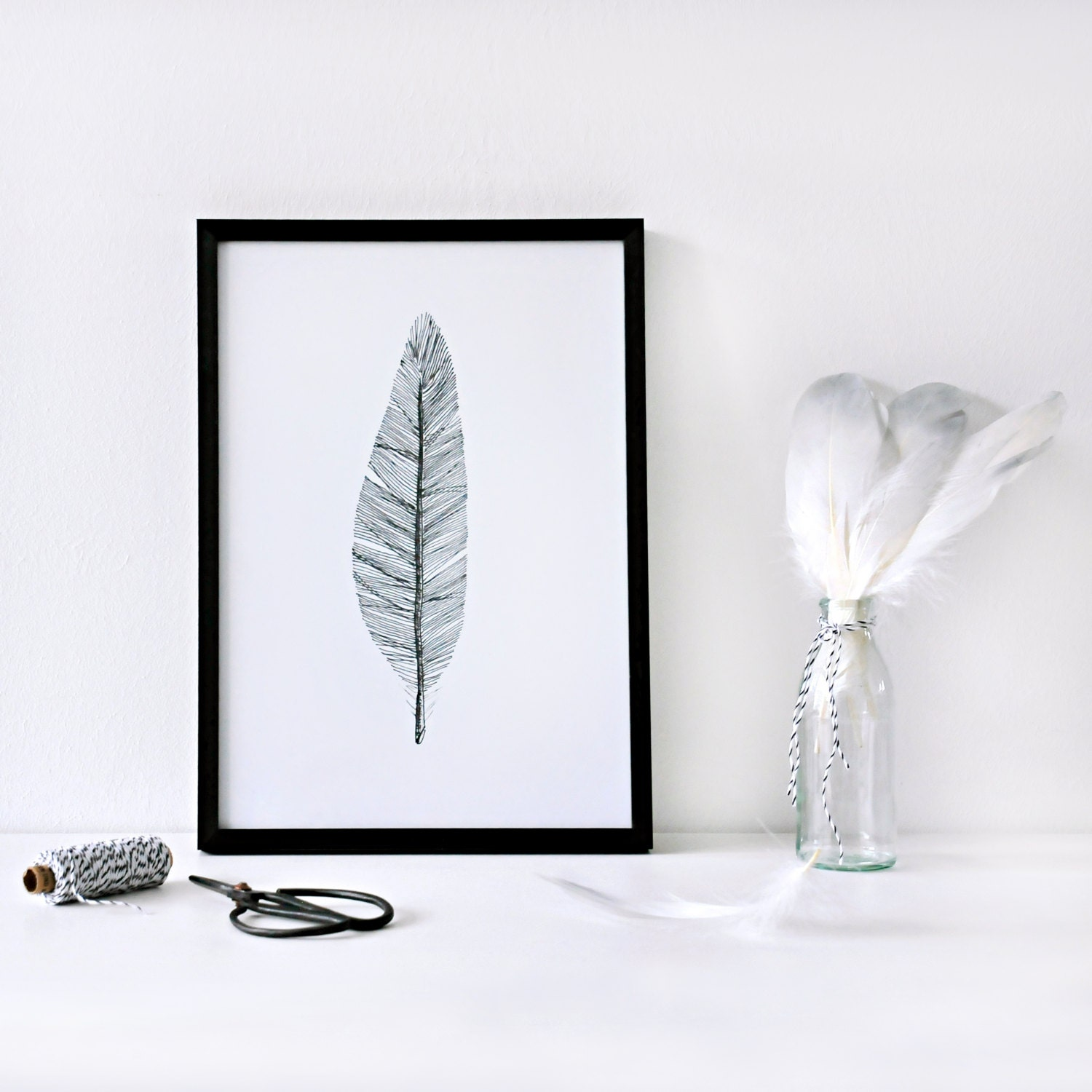 schwarz wei poster printable leaf palm printable palm. Black Bedroom Furniture Sets. Home Design Ideas