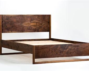 Modern Platform Bed - Storage Optional - Mid Century Modern Platform Bed