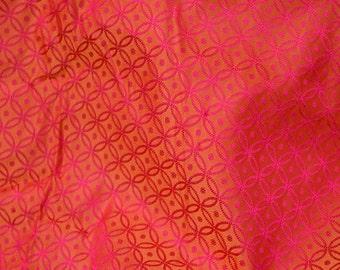Jacquard Fabric, Wedding Dress Fabric, Bridesmaid dress fabric, Brocade Fabric by the Yard, Indian Silk, Silk Brocade Fabric for bow tie