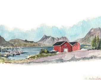 Original watercolor on demand