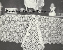 Crocheted Easter Morning Table Cloth Pattern #KC0094, Advanced Skill Level, Vintage 1970s, Instant Download, Crochet PDF Pattern