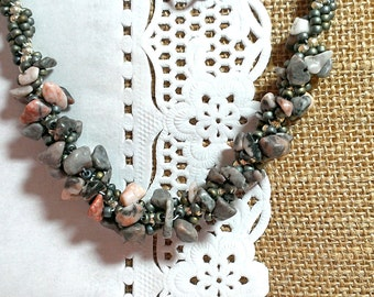 Beaded Necklace Beaded Natural stones Agate Gift Handmade Jewelry