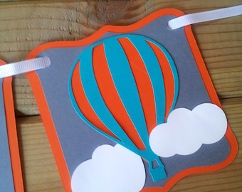 Hot Air Balloon Birthday Banner - hot air balloon birthday - first birthday - party supplies - up up & away party - boys party decor