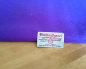 Luxury Handwoven Harris Tweed Cloth Bright Purple 100% Pure Virgin Wool handwoven in Outer Hebrides Scotland