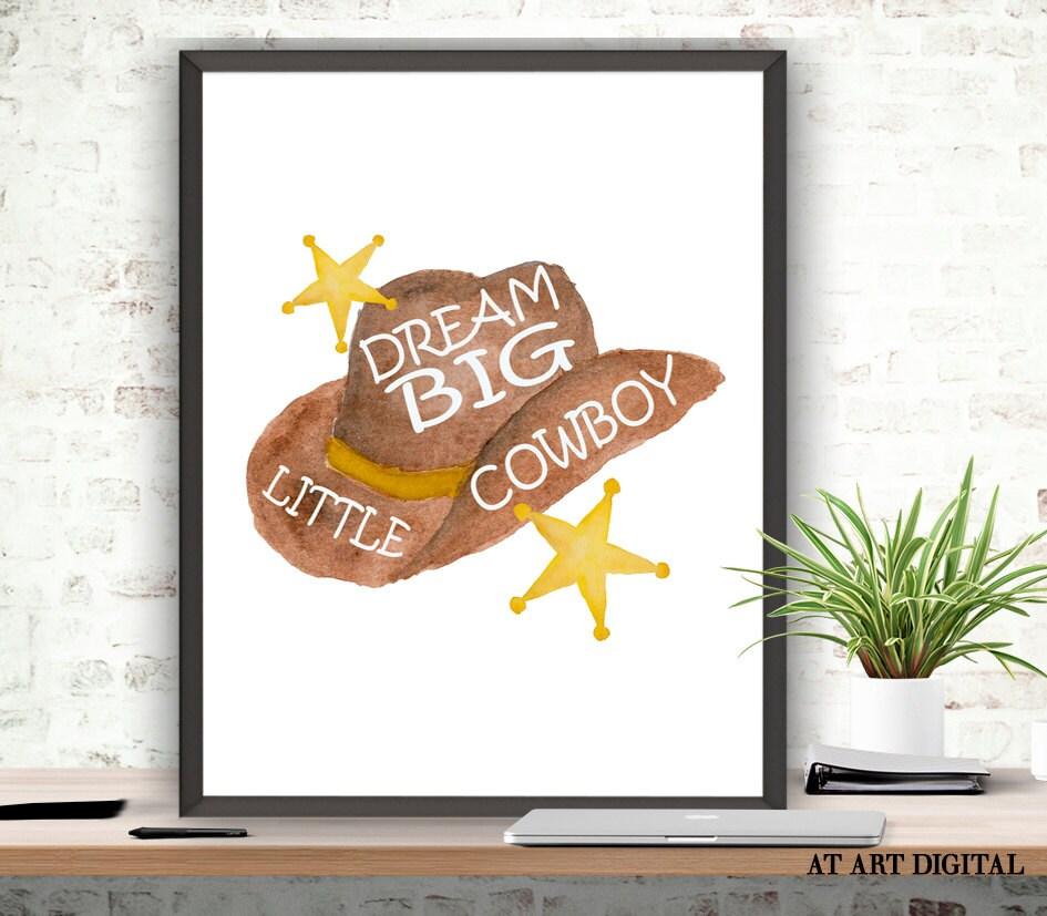 Cowboy Wall Decor Nursery : Nursery decor dream big little cowboy printable wall