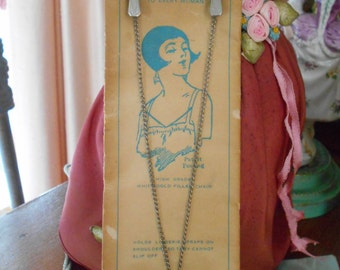 1920's Lingerie Chain on Card Never Used