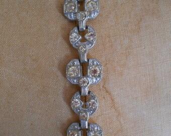1930's Art Deco Pot Metal Bracelet