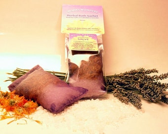 Herbal Bath Sachet with Dead Sea Salts