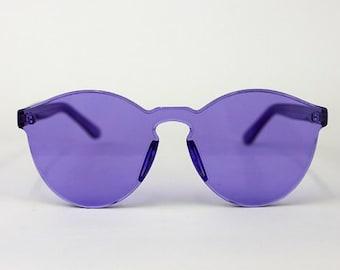 Unique purple sunglasses