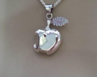 Sterling silver vintage Apple pendant